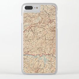 Vintage Smoky Mountains National Park Map (1949) Clear iPhone Case