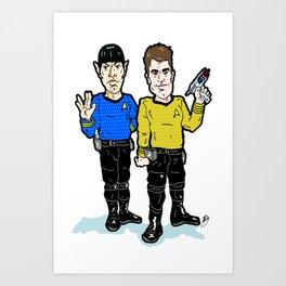 Space...  Yadda, Yadda, Yadda...  Kirk and Spock, a Star Bromance!  Star Trek With Kirk and Spock! Art Print
