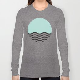 Waves of Green Long Sleeve T-shirt