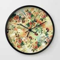 roses Wall Clocks featuring Roses by RIZA PEKER