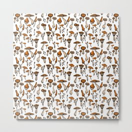 Mushroom Addiction Metal Print