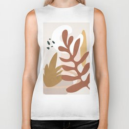Abstract Plant Life II Biker Tank