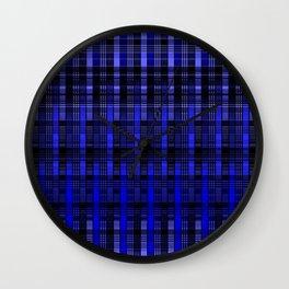 Abstract, cobalt, blue, bright blue Wall Clock