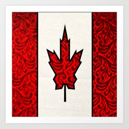 Regal Canadian Flag Art Print