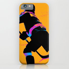 He Shoots! - Hockey Player iPhone Case