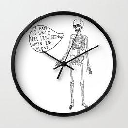 Joyce Manor Skeleton Wall Clock