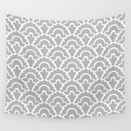 Fan Pattern Gray 115 Wall Tapestry