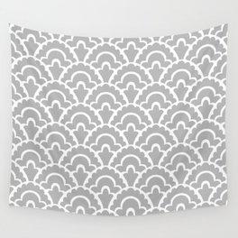Fan Pattern Gray 115 Wall Tapestry