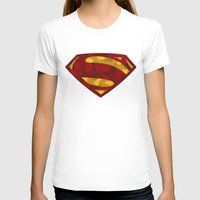 man of steel T-shirts featuring MAN OF STEEL by thebuffaloarmy