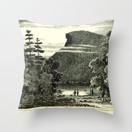 The Old Man of the Mountain Throw Pillow