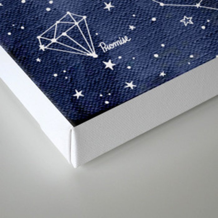 A Lover's  Sky / Constellations & Stars Canvas Print