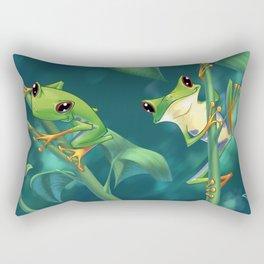 I Love Being Green! Rectangular Pillow