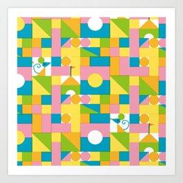 Building block Art Print