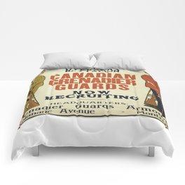 Vintage poster - Canadian Grenadier Guards Comforters