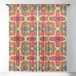 Southwest Pattern 3 Sheer Curtain