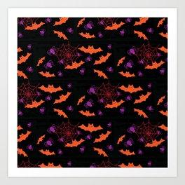 Spider Webs & Bats Art Print