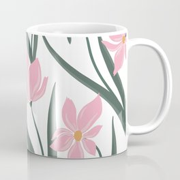 Floral Pattern - pink and white Coffee Mug