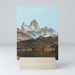 El Chalten, Argentina Travel Artwork Mini Art Print
