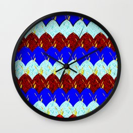 Red White and Blue Scales Wall Clock