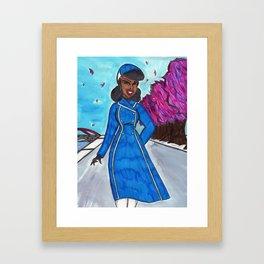 Winter Stroll Framed Art Print