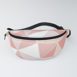 Festive, Geometric Art, Coral and Pink, Triangles Pattern Fanny Pack