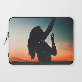 WOMAN - SUNRISE - SUNSET - LIGHTS - PHOTOGRAPHY Laptop Sleeve