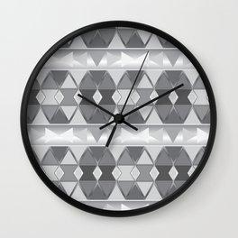 Gray triangle abstract Wall Clock