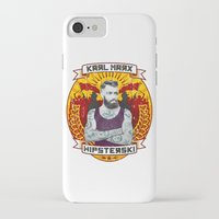 marx iPhone & iPod Cases featuring Karl Marx Hipster by Ferguccio