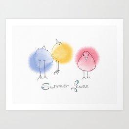 Summer Fauna Art Print