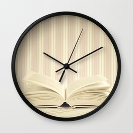 Stories in the books (Retro and Vintage Still Life Photography) Wall Clock