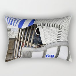 Beachchair No. 69 - Baltic Sea - Warnemuende Rectangular Pillow