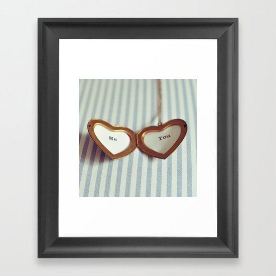 Love in your Heart. Framed Art Print