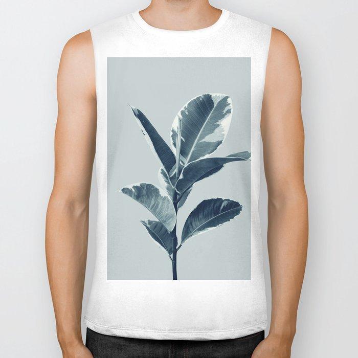 Ficus Elastica Finesse #1 #tropical #foliage #decor #art #society6 Biker Tank