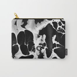 Black And White Wet Paint Modern Pattern Photography Carry-All Pouch