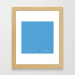 Bonnie blue Framed Art Print