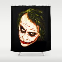 joker Shower Curtains featuring Joker by William Cuccio aka WCSmack