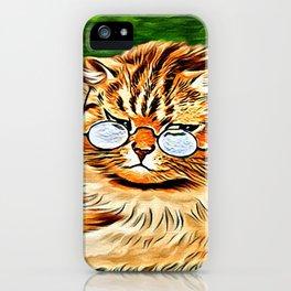 ORANGE TABBY CAT - Louis Wain's Cats iPhone Case
