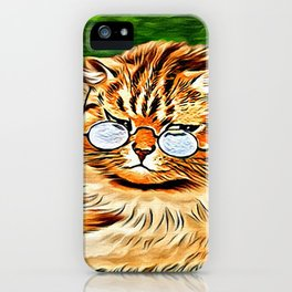 ORANGE TABBY CAT - Louis Wain's Cats iPhone Case
