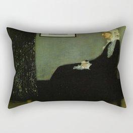 WHISTLERS MOTHER - JAMES ABBOTT MCNEILL WHISTLER Rectangular Pillow