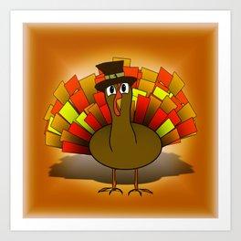 Thanksgiving Turkey Pilgrim Art Print