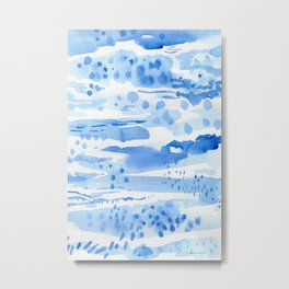 Landscape in blue Metal Print