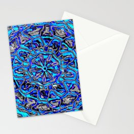 Blue spin Stationery Cards