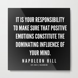 59  | Napoleon Hill Quote Series  | 190614 Metal Print