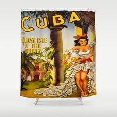 Cuba Holiday Isle of the Tropics Shower Curtain
