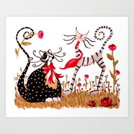 Forever Sweethearts Art Print