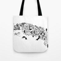 cuba Tote Bags featuring CUBA by gabriel