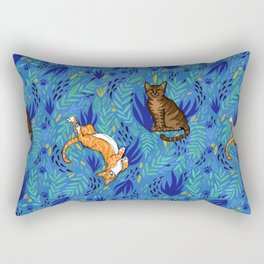 Cats in the Garden Rectangular Pillow