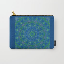 Bluegreen therapy art - Serenity mandala Carry-All Pouch