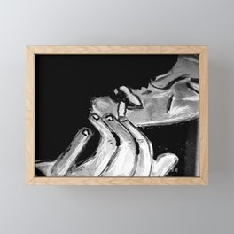 Michael Smoking B&W Framed Mini Art Print