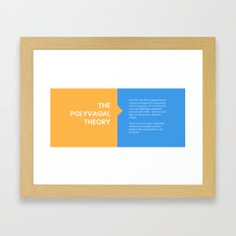 The Polyvagal Theory Framed Art Print